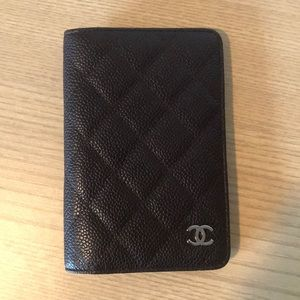 Chanel Quilted Caviar Agenda Cover/Passport Wallet